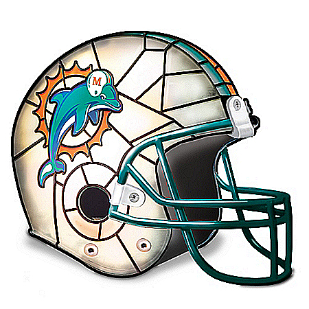 Photo of Miami Dolphins Football Helmet Accent Lamp by The Bradford Exchange Online