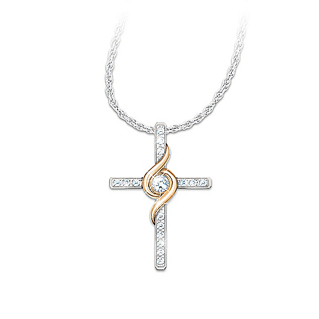 Photo of Necklace: Amazing Grace Diamond Pendant Necklace by The Bradford Exchange Online