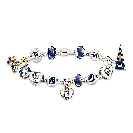 Photo of Bracelet: Go Detroit Tigers! #1 Fan Charm Bracelet by The Bradford Exchange Online