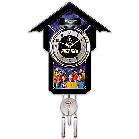 Photo of Cuckoo Clock: STAR TREK Original Series Cuckoo Clock by The Bradford Exchange Online