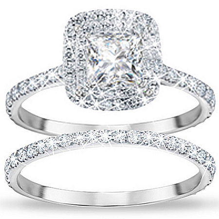 Photo of Women's Ring: A Love Like No Other Personalized Bridal Ring Set by The Bradford Exchange Online