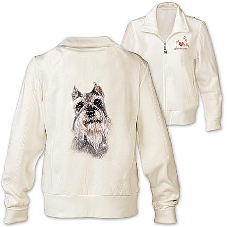 Photo of Women's Jacket: Doggone Cute Schnauzer Women's Jacket by The Bradford Exchange Online