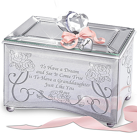 Photo of Personalized Music Box: Granddaughter, You're A Dream Come True by The Bradford Exchange Online
