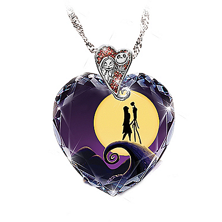 Photo of Tim Burton's The Nightmare Before Christmas Pendant Necklace by The Bradford Exchange Online