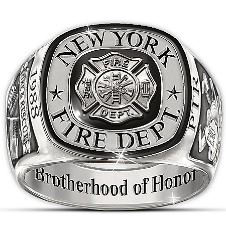 Photo of Ring: Brotherhood Of Honor Personalized Ring by The Bradford Exchange Online