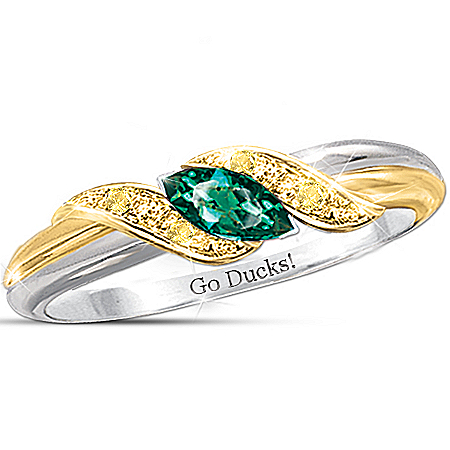Photo of Ring: Pride Of Oregon Ducks by The Bradford Exchange Online