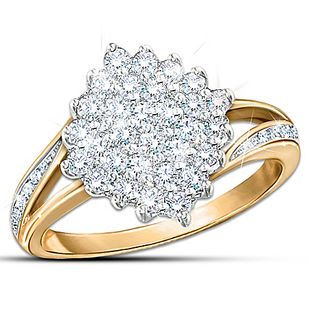 Photo of Ring: Diamond Delight Statement Ring by The Bradford Exchange Online