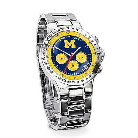 Photo of Men's Collector's Watch: Michigan Wolverines by The Bradford Exchange Online