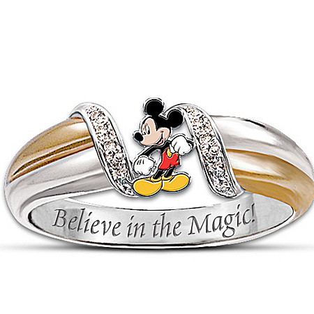 Photo of Women's Ring: The Magic Of Mickey Mouse Ring by The Bradford Exchange Online