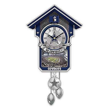 Photo of Dallas Cowboys Cuckoo Clock by The Bradford Exchange Online
