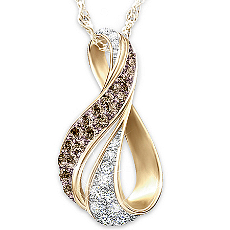 Photo of Sweet Decadence Mocha And White Diamond Pendant Necklace by The Bradford Exchange Online