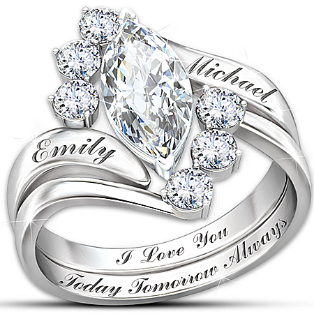 Photo of Ring: Love Completes Us Personalized Ring by The Bradford Exchange Online