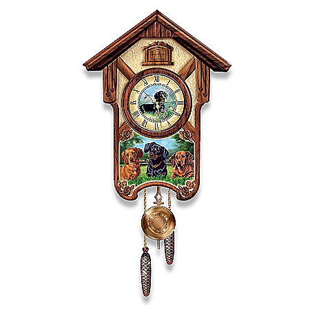 Photo of Cuckoo Clock: Delightful Dachshunds Cuckoo Clock by The Bradford Exchange Online