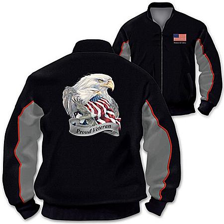 Photo of Jacket: U.S. Military Pride Veterans Salute Men's Jacket by The Bradford Exchange Online
