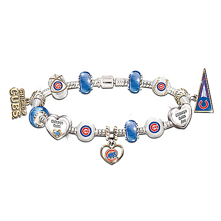 Photo of MLB Charm Bracelet: Go Cubs! #1 Fan by The Bradford Exchange Online