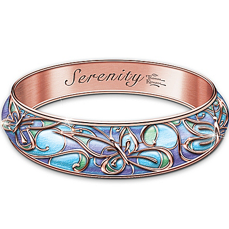 Thomas Kinkade Serenity Copper Wellness Bracelet