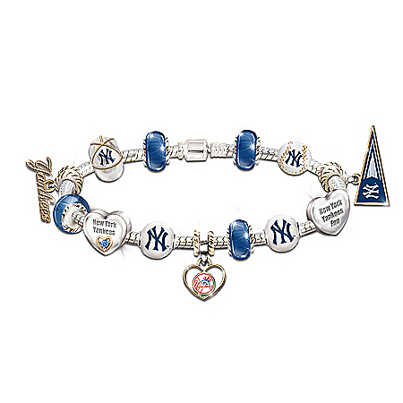 Photo of MLB Charm Bracelet: Go Yankees! #1 Fan by The Bradford Exchange Online