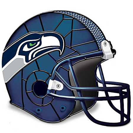 Photo of Seattle Seahawks Football Helmet Accent Lamp by The Bradford Exchange Online