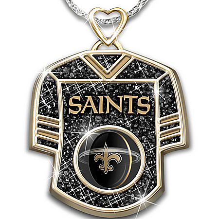 Photo of Women's Necklace: Get In The Game Saints Personalized Pendant Necklace by The Bradford Exchange Online