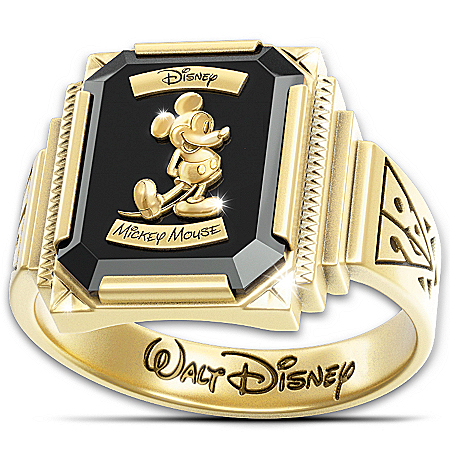 Photo of Ring: Disney Mickey Mouse 1928 Commemorative With 18K-Gold Plating by The Bradford Exchange Online