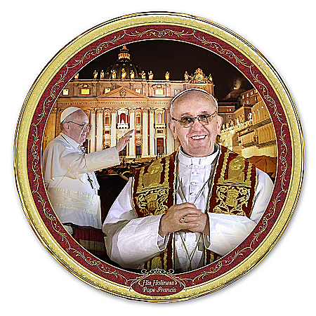 Photo of Pope Commemorative Collector Plate: His Holiness, Pope Francis by The Bradford Exchange Online