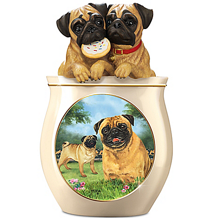 Photo of Linda Picken Cookie Capers: The Pug Cookie Jar by The Bradford Exchange Online
