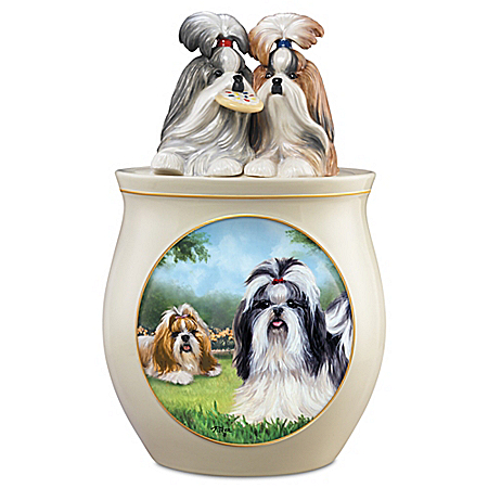Photo of Cookie Capers: The Shih Tzu Handcrafted Cookie Jar by The Bradford Exchange Online