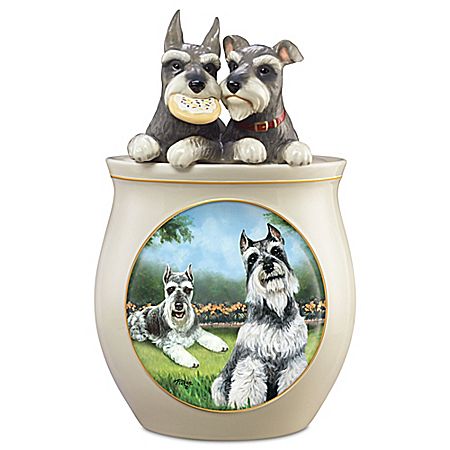 Photo of Cookie Capers: The Schnauzer Handcrafted Cookie Jar by The Bradford Exchange Online