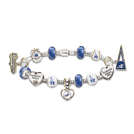 Photo of Bracelet: Go Los Angeles Dodgers! #1 Fan Charm Bracelet by The Bradford Exchange Online