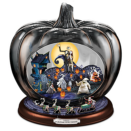 Photo of Disney The Nightmare Before Christmas Musical Pumpkin Sculpture by The Bradford Exchange Online