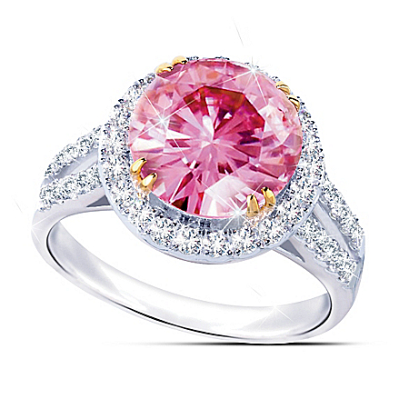 Photo of Cosmopolitan Women's Diamonesk Statement Ring by The Bradford Exchange Online