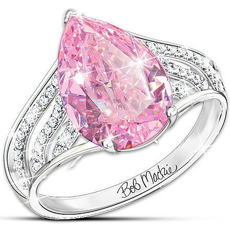 Photo of Ring: Pink Beauty Diamonesk Sterling Silver Ring by The Bradford Exchange Online