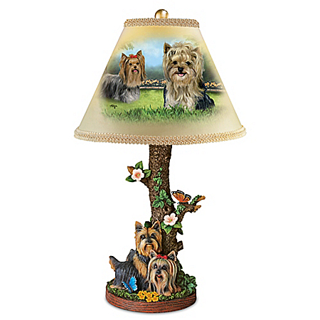 Youthful Yorkies Table Lamp