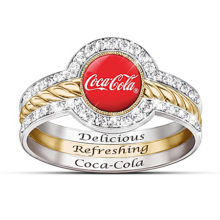 COCA-COLA Shimmering Style Women's Stacking Ring