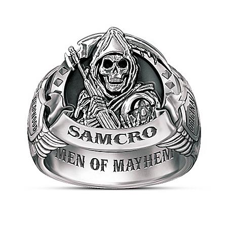 Photo of Sons Of Anarchy Men Of Mayhem Ring by The Bradford Exchange Online