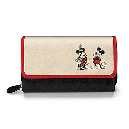 Disney Mickey Mouse & Minnie Mouse Love Story Women's Wallet