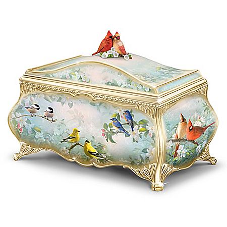 Image of Decorative Songbird Bird Music Box