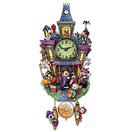Disney Spooktacular Halloween Themed Illuminated Cuckoo Clock
