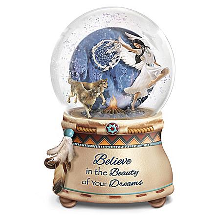 Mystical Dreams Handcrafted Native American Style Glitter Globe