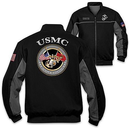 Photo of USMC Semper Fi Spirit Salute Personalized Men's Black Jacket by The Bradford Exchange Online