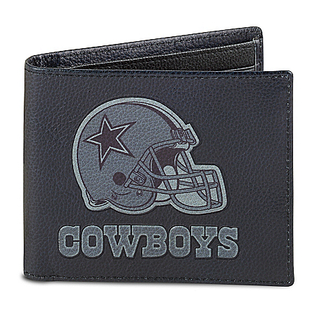 Photo of NFL Dallas Cowboys Men's RFID Blocking Leather Wallet by The Bradford Exchange Online