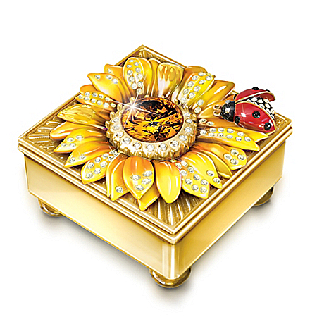 Image of Daughter Mini Treasures Personalized 22K Gold-Plated Music Box