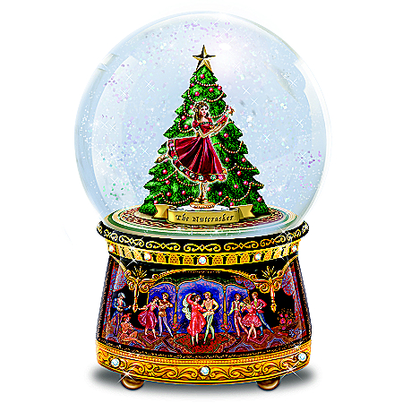 Nutcracker Musical Glitter Globe