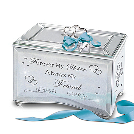 Image of Forever My Sister, Always My Friend Personalized Mirrored Music Box
