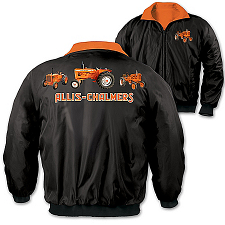 Photo of Allis Chalmers Pride Men's Fleece & Nylon Reversible Jacket by The Bradford Exchange Online