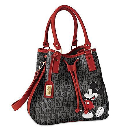 Disney Forever Mickey Mouse Women's Handbag With Luggage Tag