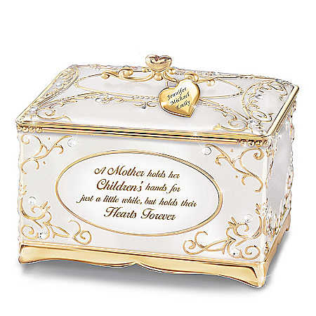 Image of A Mother's Love Personalized 18K Gold Plated Music Box