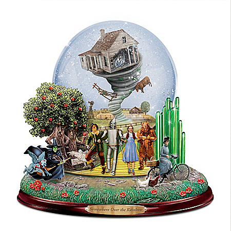 The WIZARD OF OZ LAND OF OZ Musical Glitter Globe