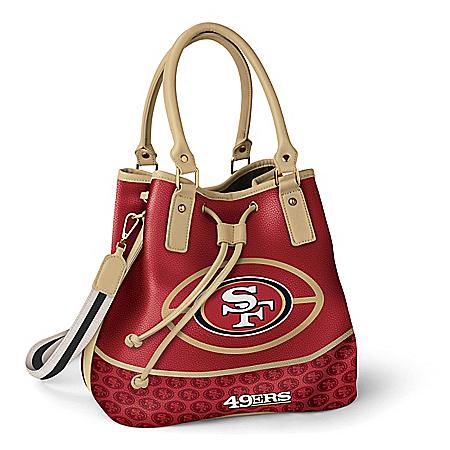 Photo of San Francisco 49ers Women's NFL Bucket-Style Handbag by The Bradford Exchange Online
