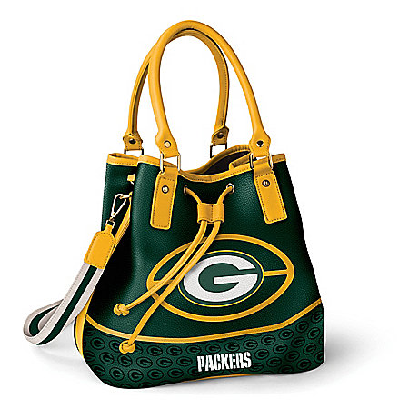 Photo of Green Bay Packers Women's NFL Bucket-Style Handbag by The Bradford Exchange Online